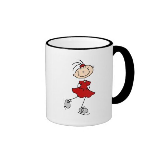 Red Dress Figure Skater Tshirts and Gifts Ringer Coffee Mug