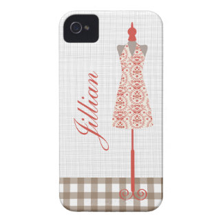 Red Dress Form iPhone 4 Case-Mate Barely There™