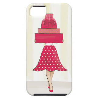 Red Dress girl with gifts iPhone 5 Covers