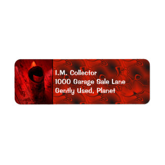 Red Driftwood Curl Label