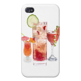 Red Drinks Cover For iPhone 4