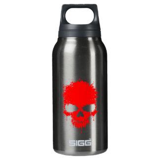 Red Dripping Splatter Skull Insulated Water Bottle