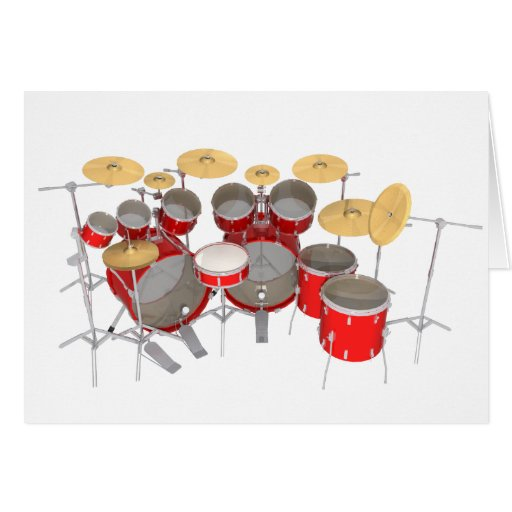 Red Drum Kit: 10 Piece: Cards