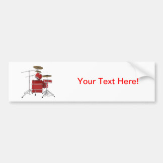 Red Drum Kit: Car Bumper Sticker