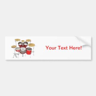 Red Drum Kit: Bumper Sticker
