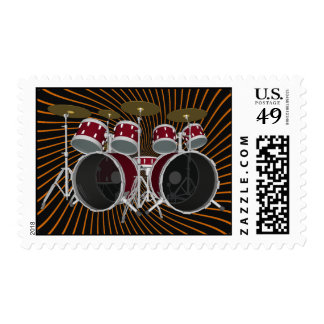 Red Drum Kit: Double Kick: Custom Stamps
