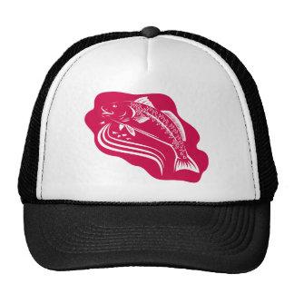 Red Drum Spot Tail Bass Fish Retro Trucker Hat
