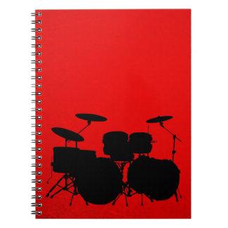 Red Drum Vector Spiral Notebook