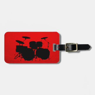 Red Drum Vector Tag For Luggage