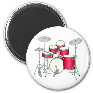 Red Drums Magnet