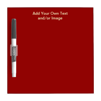 Red Dry Erase Board Template