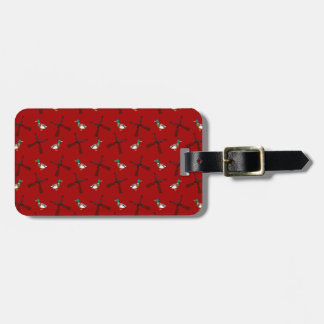 red duck hunting pattern tag for luggage