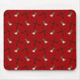 red duck hunting pattern mouse pad