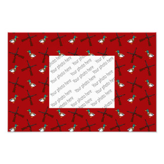 red duck hunting pattern photo art