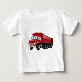 Red  Dump Truck 10w Cartoon Baby T-Shirt