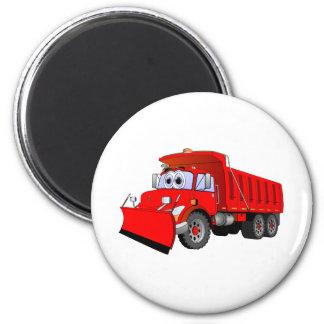 Red Dump Truck Cartoon Magnet
