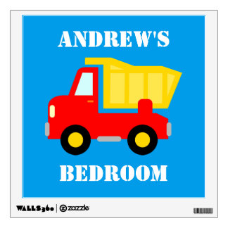 Superb Red Dump Truck Vehicle Wall Decal For Boys Bedroom