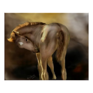 Red Dun Filly Large Poster