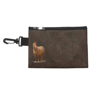 Red Dun Horse Image Leather-look Equine Art Accessory Bag
