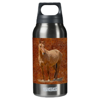 Red Dun Horse-lover's Equine Design Insulated Water Bottle