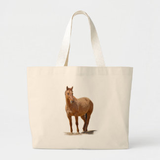 Red Dun Horse-lover's Equine Gift Design Canvas Bag