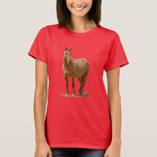 Red Dun Horse-lover's Equine Gift Design T-Shirt