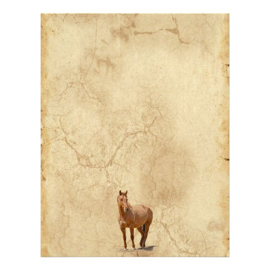 Red Dun on Parchment Horse-lover's Equine Gift Letterhead