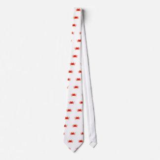 Red Dungeness Crab Logo Neck Tie