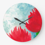 Red Duo Large Clock