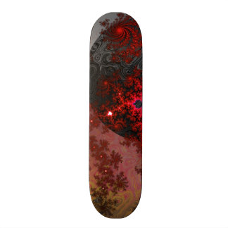 Red Dwarf Fractal Galaxy Vivid Galactic Pattern Skateboard