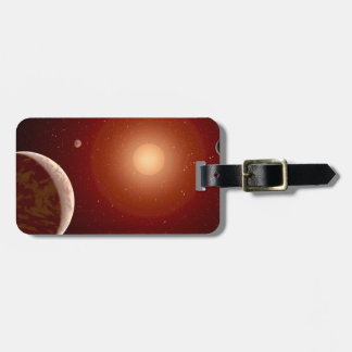 Red Dwarf Star and Exoplanets Bag Tag