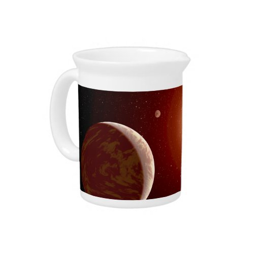 Red Dwarf Star and Exoplanets Drink Pitcher