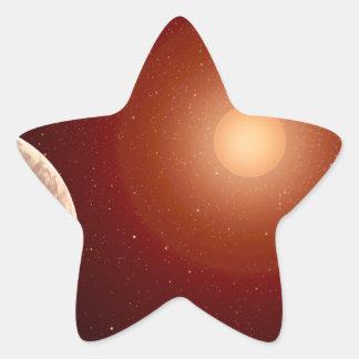 Red Dwarf Star and Exoplanets Star Sticker