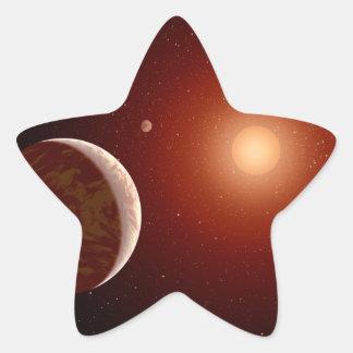 Red Dwarf Star Space Art Star Sticker