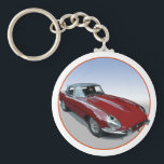 "Red E Type Roadster Keychain<br><div class=""desc"">Red E Type Roadster</div>"