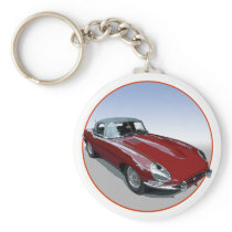 Red E Type Roadster Keychain