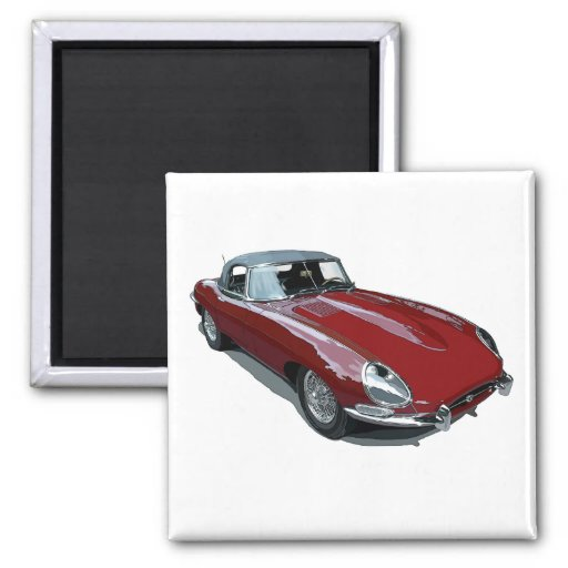 Red E Type Roadster Magnets