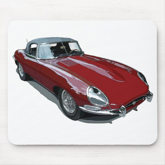 Red E Type Roadster Mouse Pad