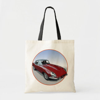 Red E Type Roadster Tote Bag