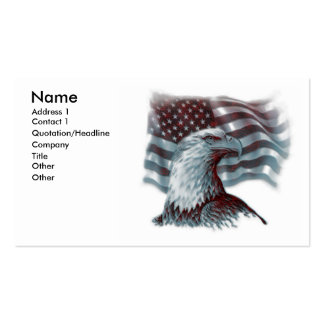 Red Eagle - Patriotic Business Cards