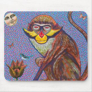 Red Eared Monkey Mousepad