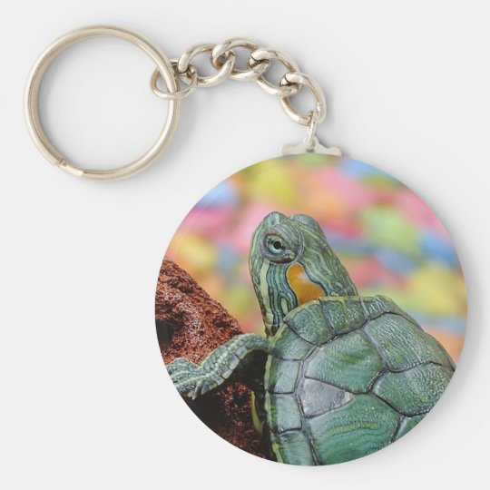 Red-eared slider turtle keychain