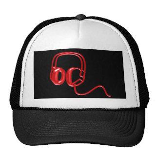 Red Earphones Trucker Hat