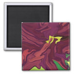Red Earth abstract art fridge magnet