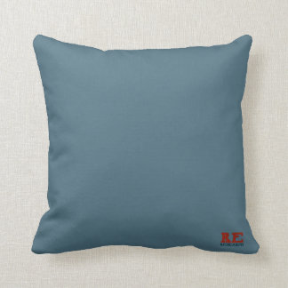 Red Earth Solid Blue Throw pillow