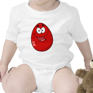 Red Easter Egg Mascot Cartoon Character T-shirts