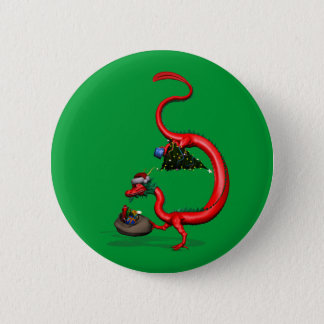 Red Eastern Dragon Button
