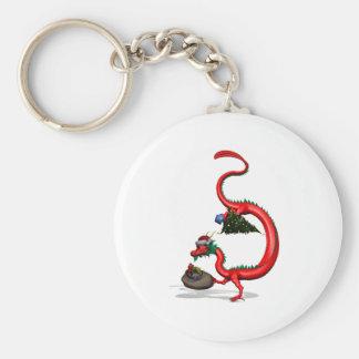 Red Eastern Dragon Keychain