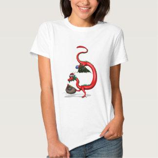Red Eastern Dragon T Shirt