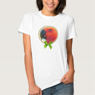 Red eclectus parrot realistic painting T-Shirt